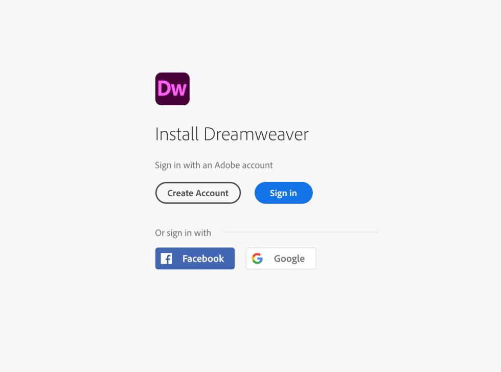 Adobe Dreamweaver Download Page