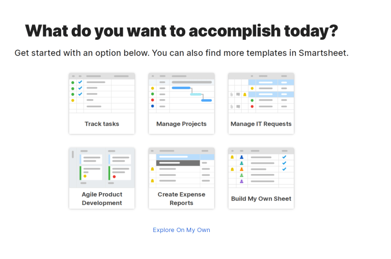Smartsheet - Dashboard