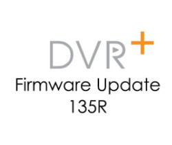 Logo showing DVR+ Firmware Update 135R