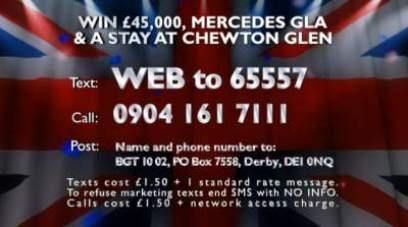 Britain's Got Talent Competition Mercedes