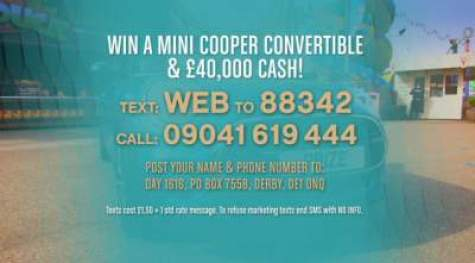 Loose Women Competition Mini Cooper and £40,000 prize