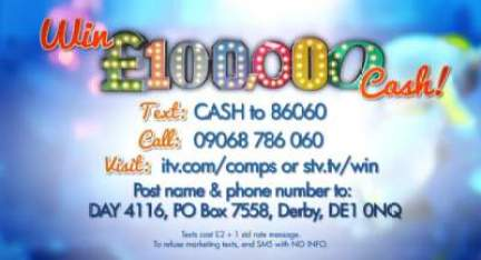 £100,000 Cash ITV Competition