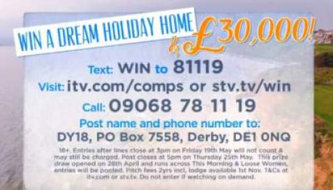 Loose Women holiday home competition