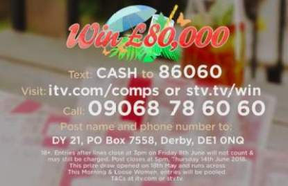 Loose Women £80,000 Competition