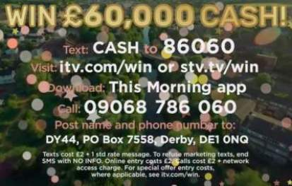 Loose Women Prize Draw £60,000 ITV