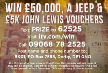 Lorraine Jeep Competition Prize Entry ITV 2019