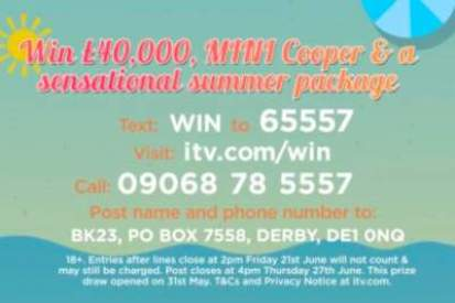 Win Summer ITV Prize Draw Competition 2019