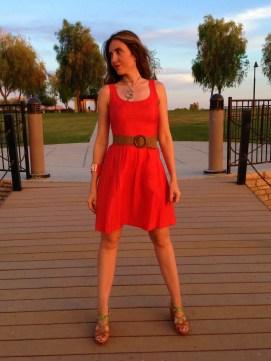 Coral Dress 4