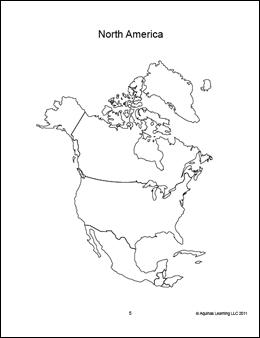 Blank North America Map Pdf