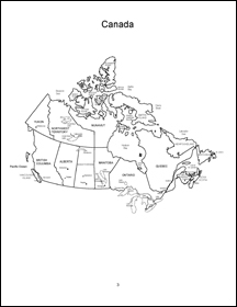 Canada and the Canadian Provinces Coloring Book
