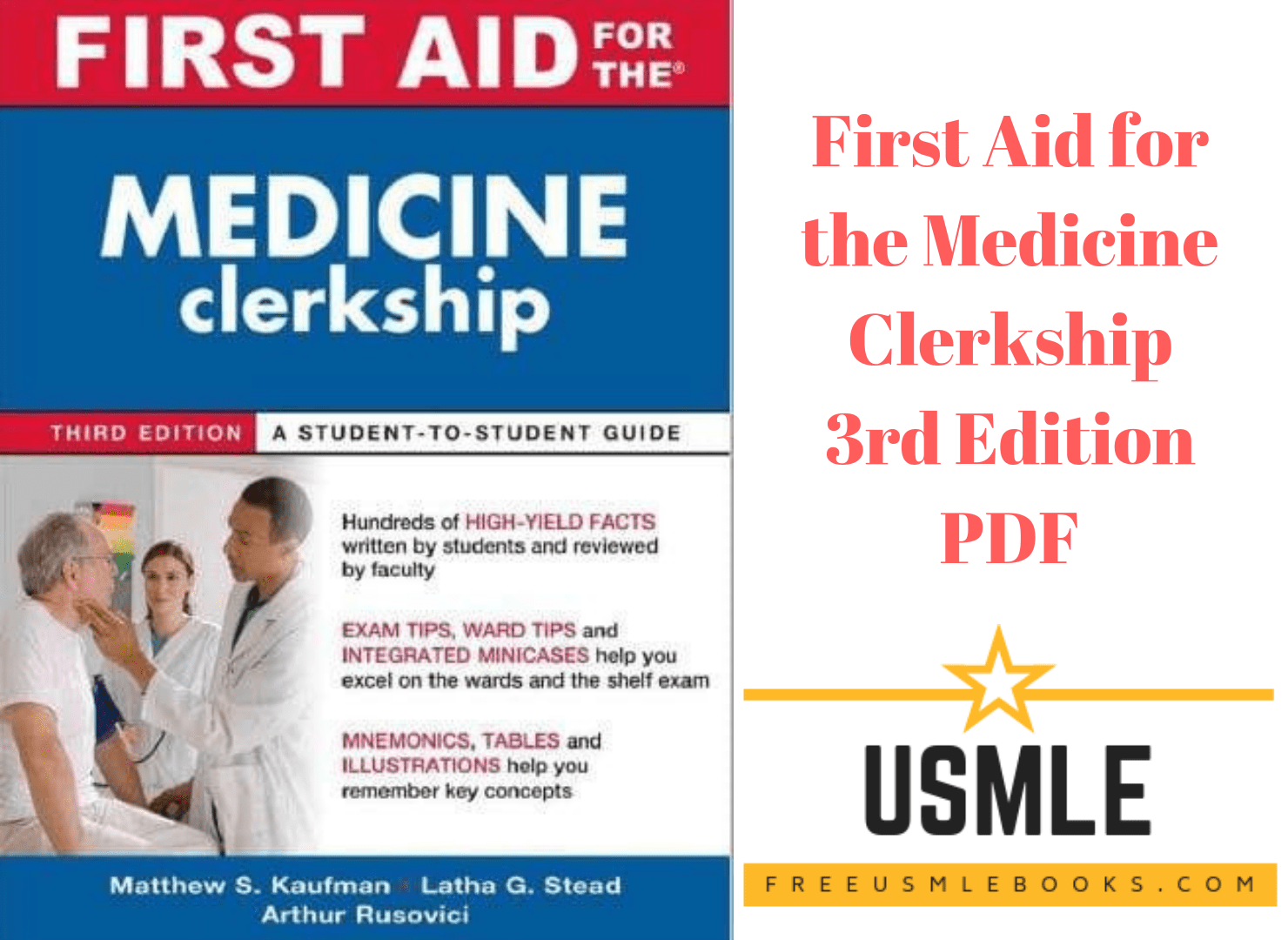 Download First Aid for the Medicine Clerkship 3rd Edition