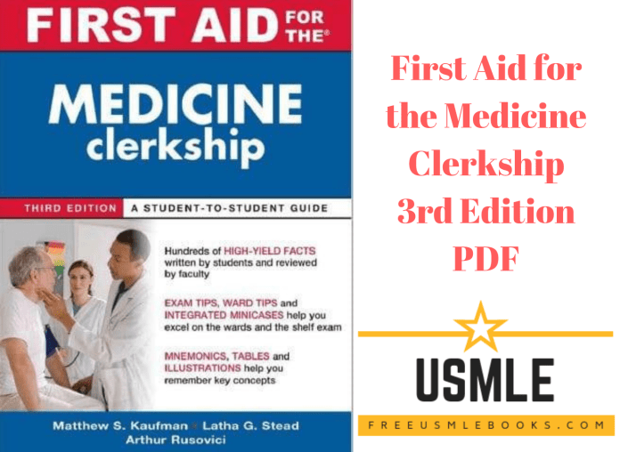 Download First Aid for the Medicine Clerkship 3rd Edition PDF Free