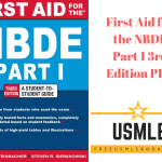 Download First Aid for the NBDE Part 1 3rd Edition PDF Free