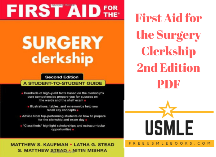 Download First Aid for the Surgery Clerkship 2nd Edition PDF Free