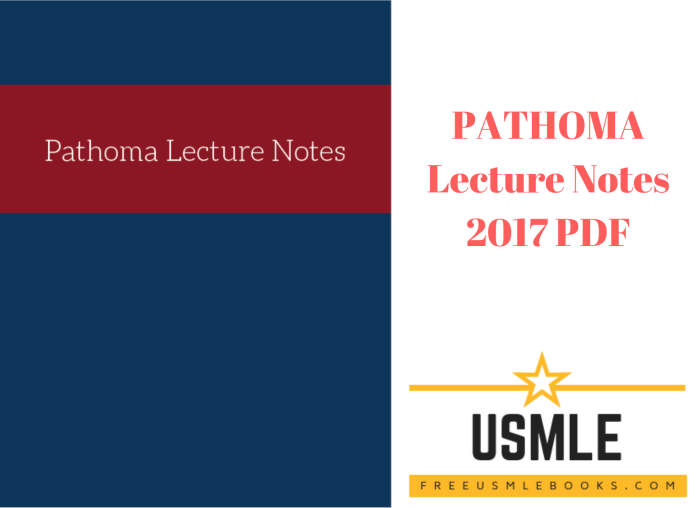 Download PATHOMA Lecture Notes 2017 PDF Free [Direct Link]