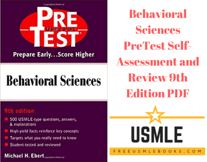 Download Behavioral Sciences PreTest Self-Assessment and Review 9th Edition PDF Free