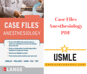 Download Case files Anesthesiology PDF Free
