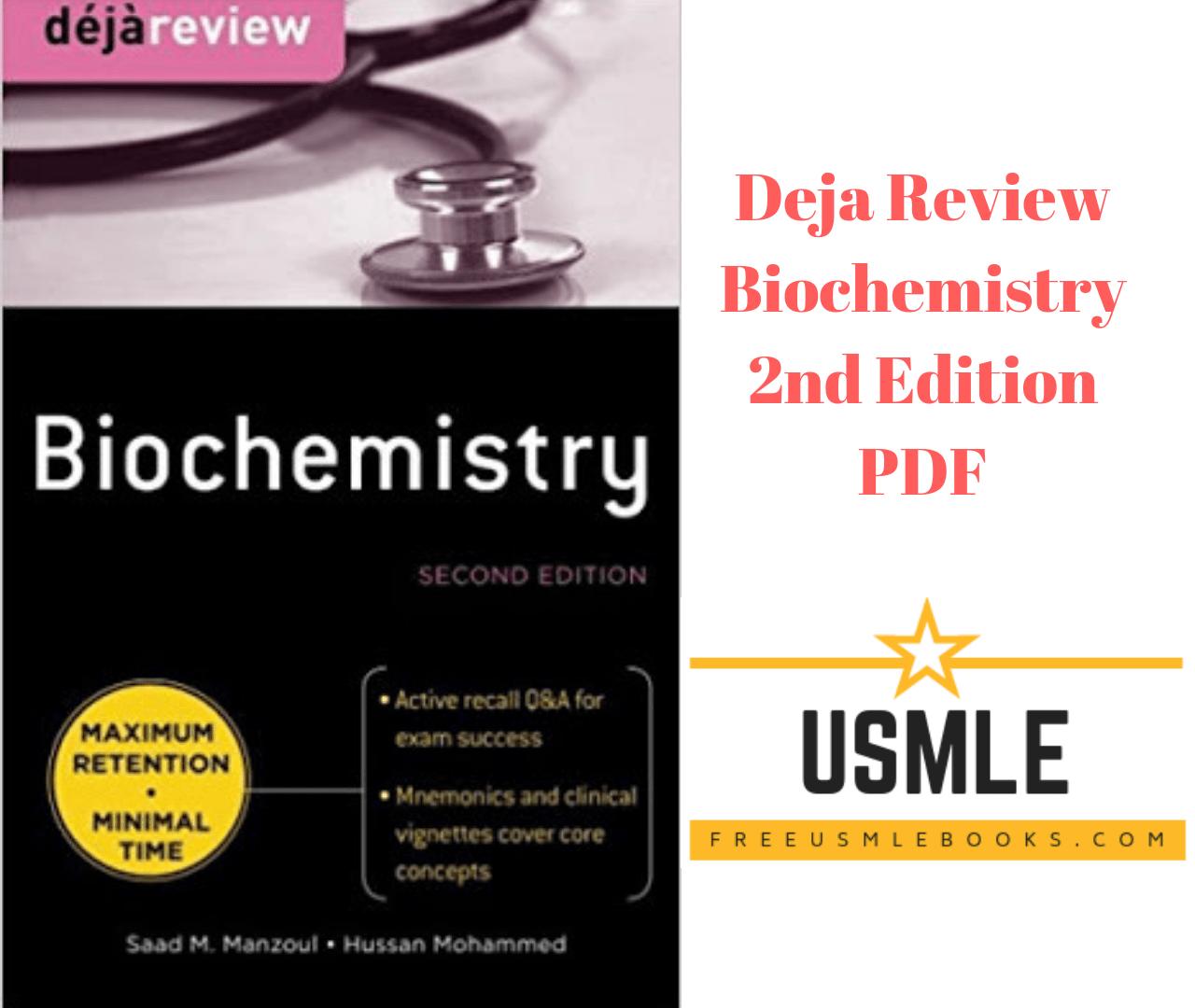 deja review biochemistry pdf free download