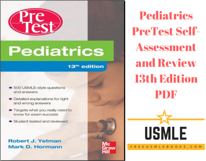 Download Pediatrics PreTest Self-Assessment and Review 13th Edition PDF Free