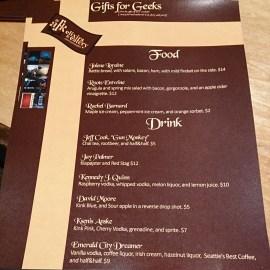 Our customized menu