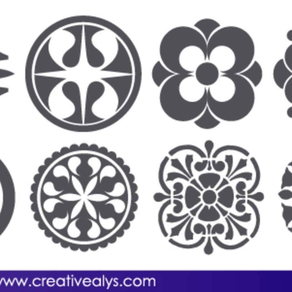 free vector abstract floral