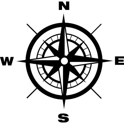 Compass with Earth cardinal points directions ⋆ Free