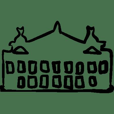 Building big hand drawn outline ⋆ Free Vectors, Logos
