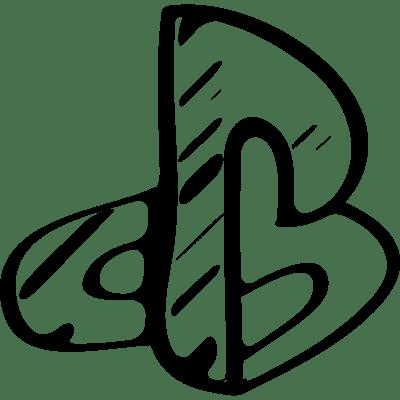 Playstation sketched social logo outline ⋆ Free Vectors