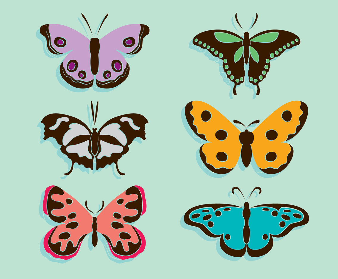 Butterfly Clip Art Collection Vector Vector Art & Graphics