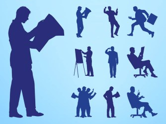 Reading And Working People Silhouettes Vector Art & Graphics freevector com