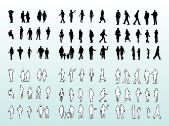 People Silhouettes And Outlines Vector Art & Graphics freevector com