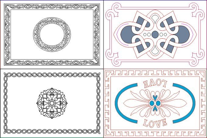 Free DXF files For Laser Cutting Free Download   Free Vector