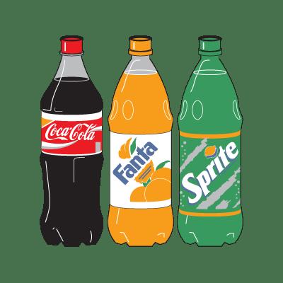coca cola three bottle