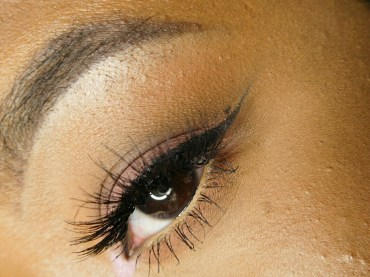 It's hard putting on lashes, but Leana makes it look effortless. (Photo by Leana Washington)