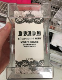 Always check out the clearance section. I found a buxom foundation in the shade almond the nude for $8. It's selling for $34 at Ulta. Sadly it's not my shade. (Photo by Kristin Guglietti)