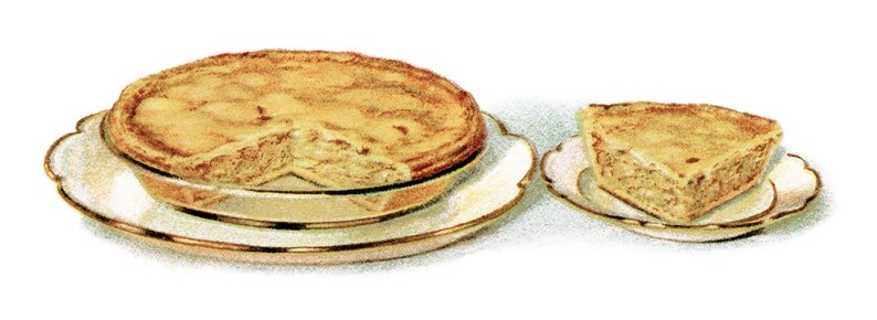 This free vintage illustration of an apple pie looks simply delicious!