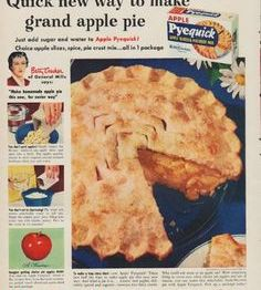 Vintage advertisement selling pie crust.