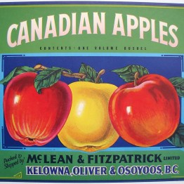 Vintage canadian apple label