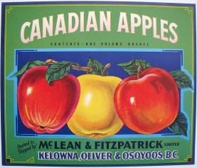 Vintage canadian apple label