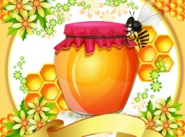 Check out this vintage inspired illustration of a honey jar!
