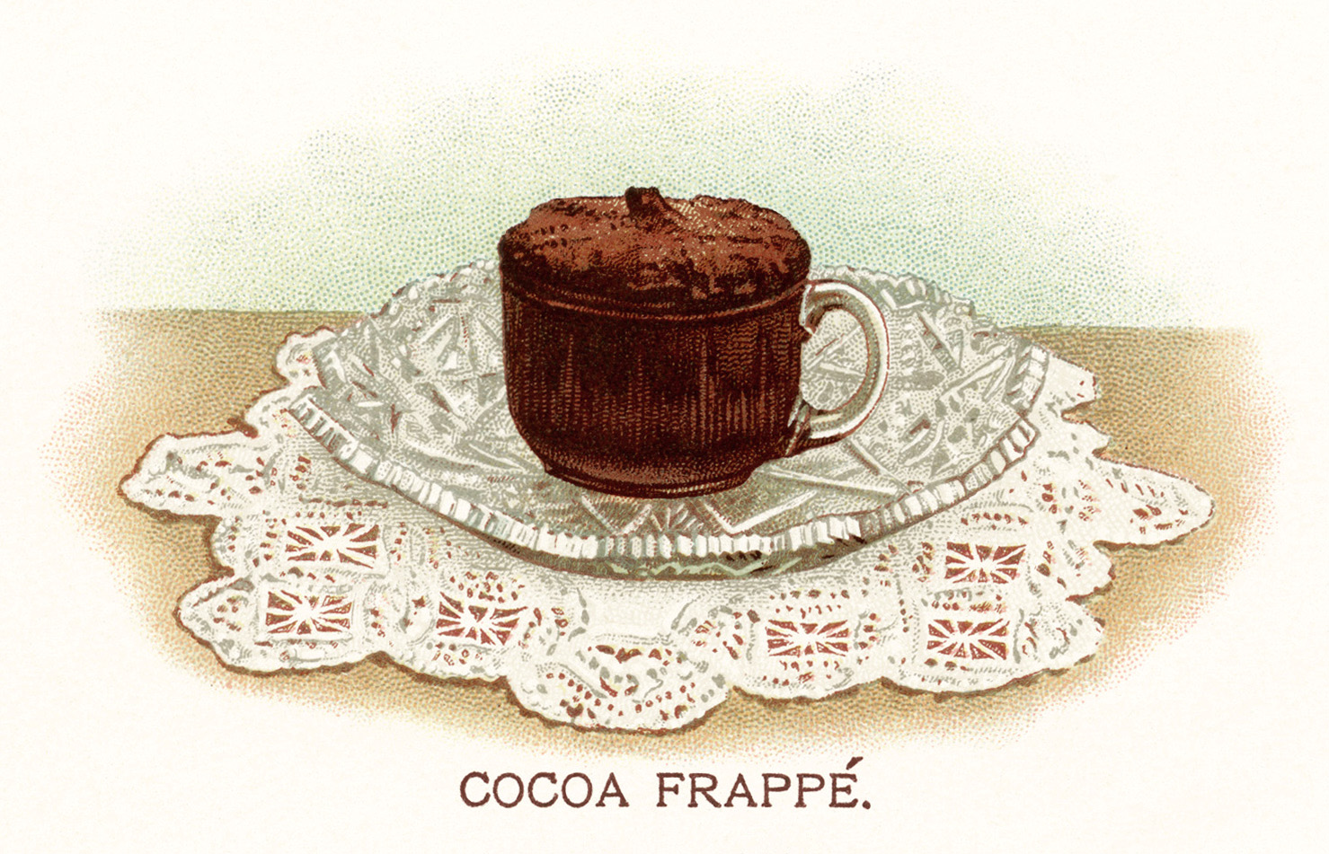 Yum! This free vintage image of a cocoa drink looks delicious