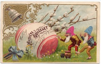 Public domain Easter gnome illustration