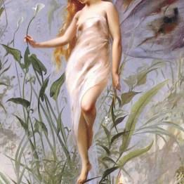 a public domain print of a fairy fantasy