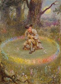 An antique painting of a magic fairyland