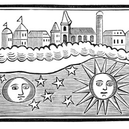 An antique celestial woodcut