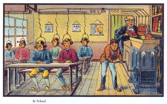 public domain france in the year 2000 at school