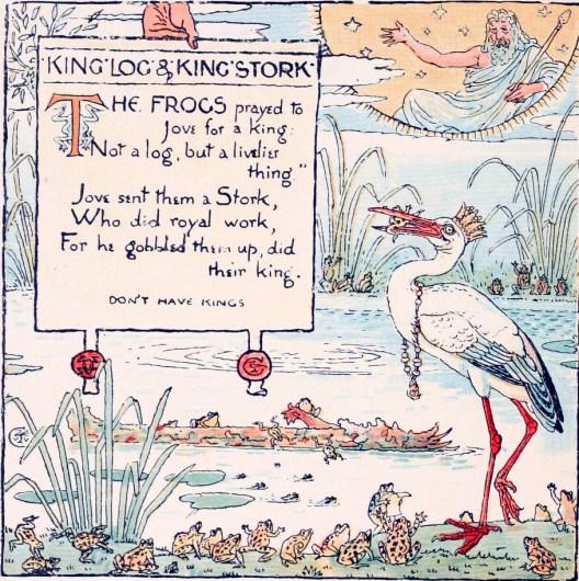 public domain aesop pelican illustration vintage children's books