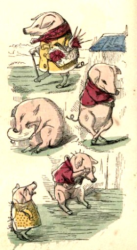 public domain ittle piggies vintage childrens books