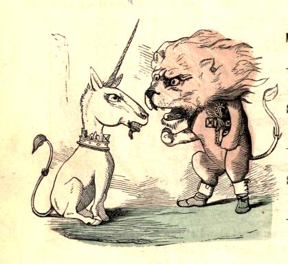 public domain lion unicorn illustration vintage childrens books