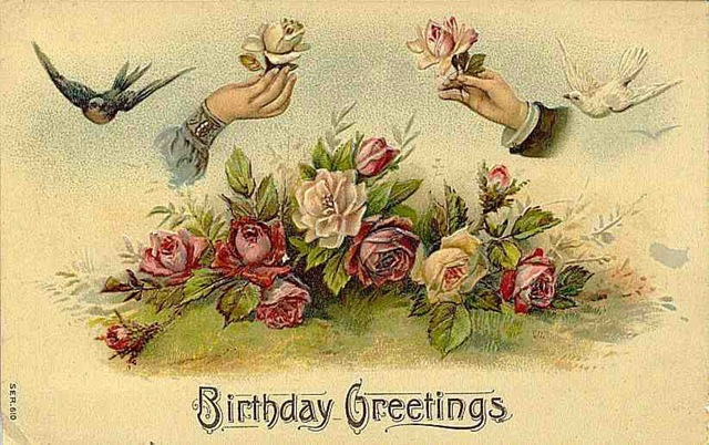 Public domain vintage birthday card birds and hands pic 4 free public domain vintage birthday card birds and hands pic 4 m4hsunfo